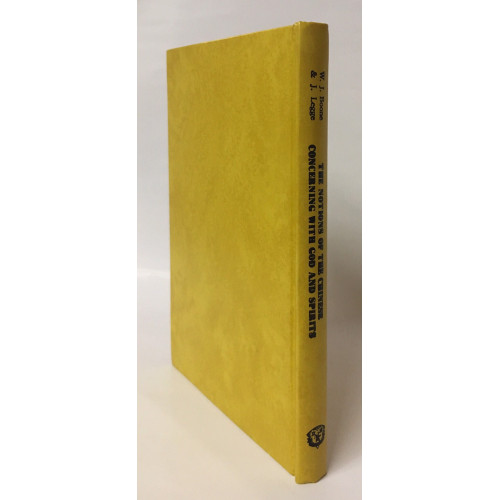 The Notions Of The Chinese Concerning God And Spirits (中國人對神與心靈之想法). With An Examination Of The Defense Of An Essay, On The Proper Rendering Of The Words Elohim And Theos, Into The Chinese Language By William J. Boone.
