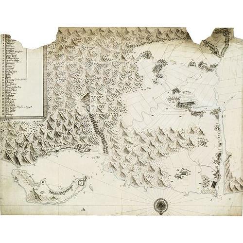 Kaart van de Compagnieslanden bij Kelang en Tanshui「(東印度)公司雞籠與淡水圖」