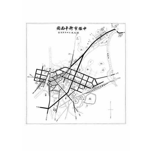 中壢市街平面圖-1933