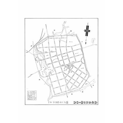 南投市居計畫平面圖-1937