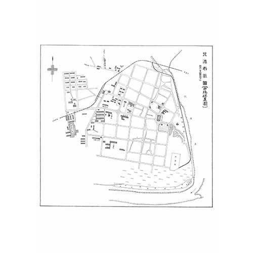北港市街圖(市場位置圖)-1933