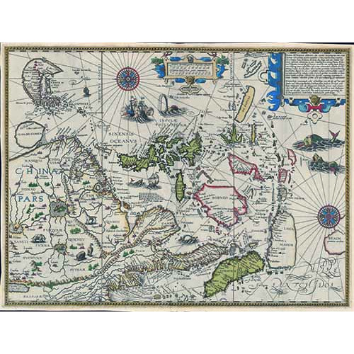 中華及東印度諸島精確海圖 (1596)
