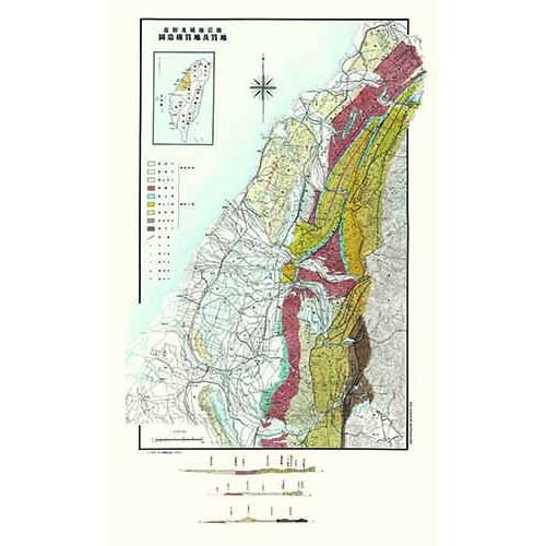 地震地區及附近地質及構造圖 (1935年版)