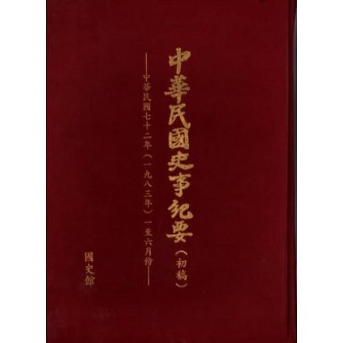 中華民國史事紀要民國72年1至6月
