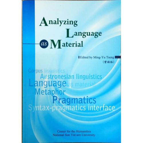 Analyzing Language as Material