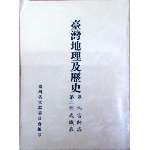 台灣地理及歷史(卷9)官師志武職表(2)
