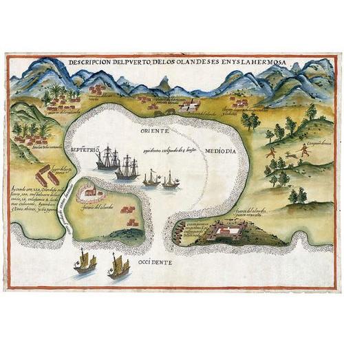 Descripción del puerto de los Olandeses en Ysla Hermosa描述艾爾摩沙島荷蘭人港口圖