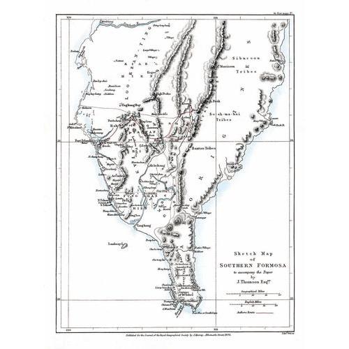 Sketch Map of Southern Formosa 福爾摩沙南部略圖