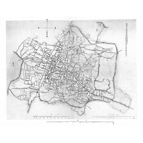 Plan de la ville de T'aï-ouan-fu臺灣府城街道全圖